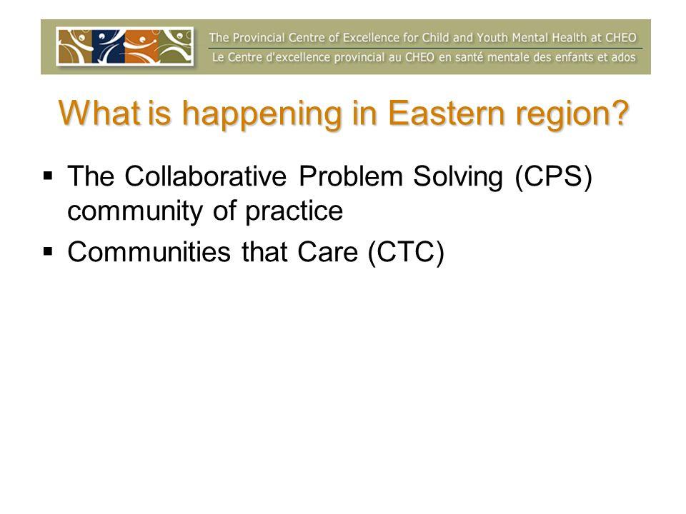 Ottawa Community of Practice Collaborative Problem Solving