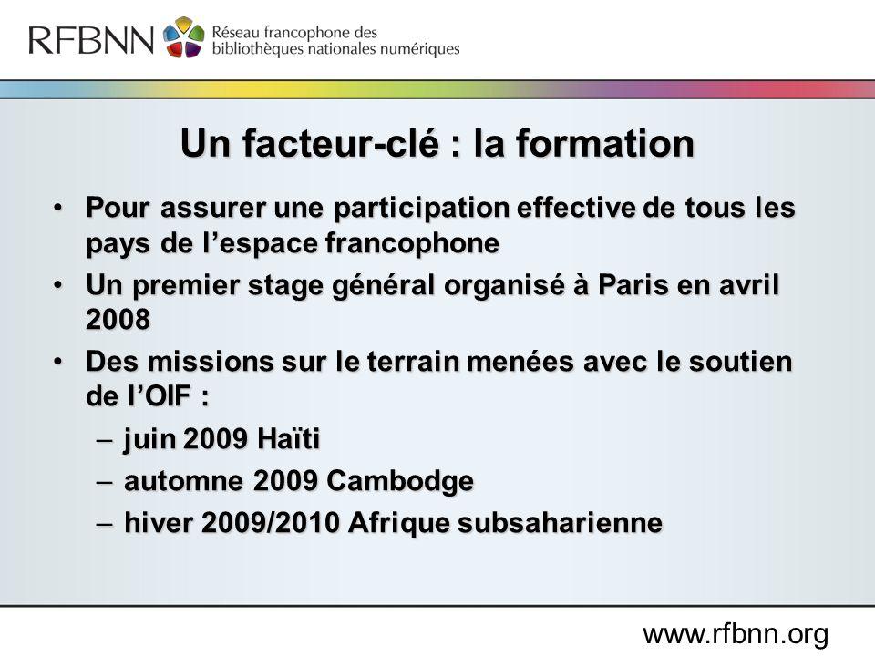 www.rfbnn.org Pour assurer une participation effective de tous les pays de lespace francophonePour assurer une participation effective de tous les pay