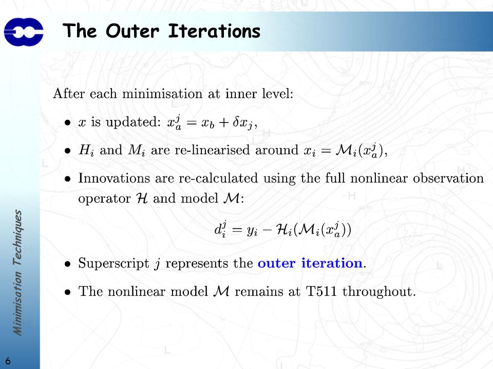 Minimisation Techniques 7 The Inner Iterations