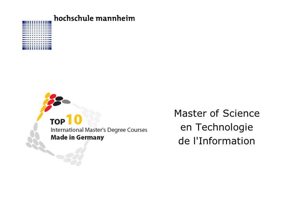 Master of Science en Technologie de l Information