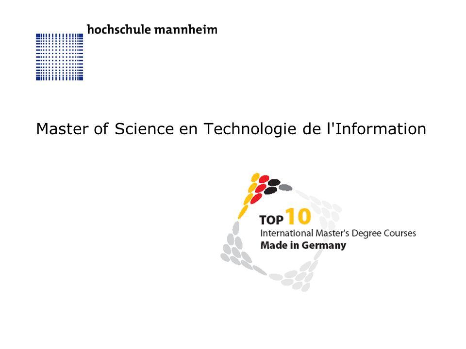 Master of Science en Technologie de l'Information