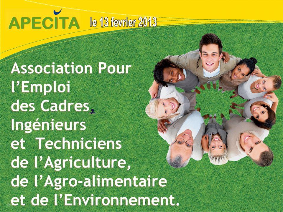 Association Pour lEmploi des Cadres, Ingénieurs et Techniciens de lAgriculture, de lAgro-alimentaire et de lEnvironnement., 1