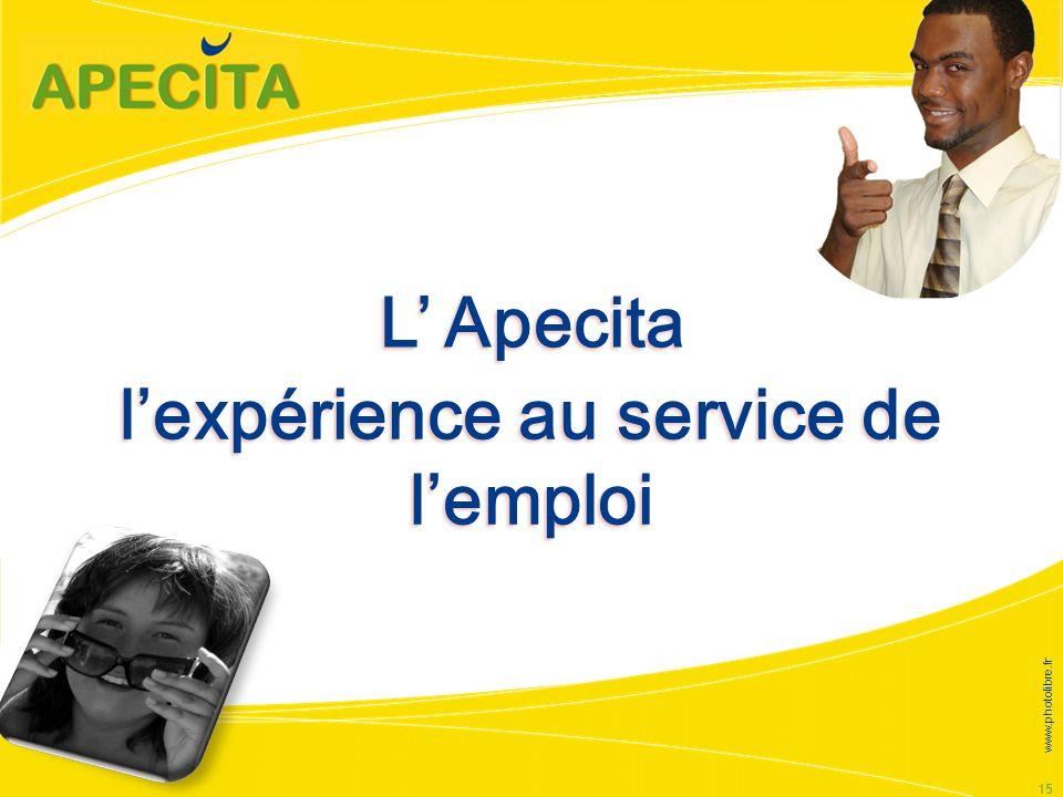 15 lexpérience au service de lemploi L Apecita www.photolibre.fr