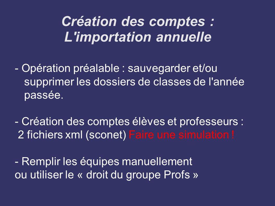 La création des comptes : Autres opérations - Ajouter les comptes manuellement : documentalistes, vie scolaire....
