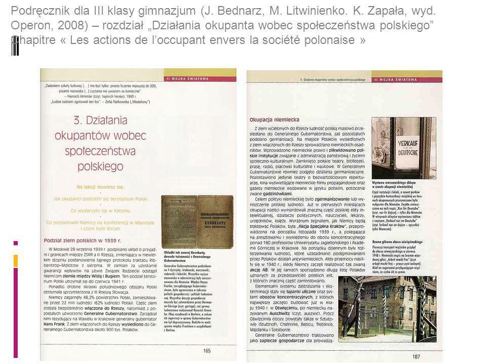 Podręcznik dla III klasy gimnazjum (J. Bednarz, M.