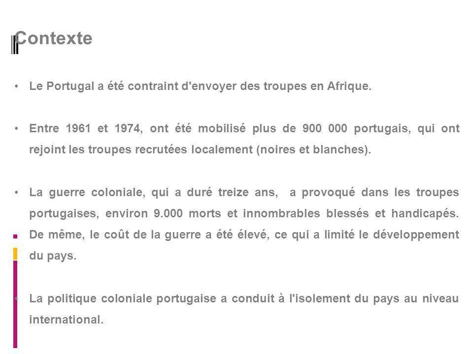Contexte Le Portugal a été contraint d envoyer des troupes en Afrique.