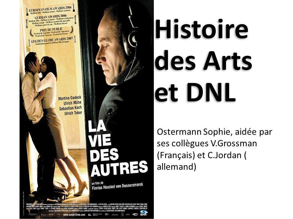 Histoire des Arts et DNL Ostermann Sophie, aidée par ses collègues V.Grossman (Français) et C.Jordan ( allemand)