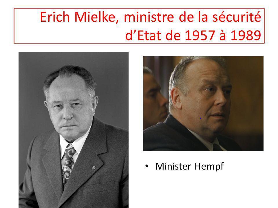 Erich Mielke, ministre de la sécurité dEtat de 1957 à 1989 Minister Hempf