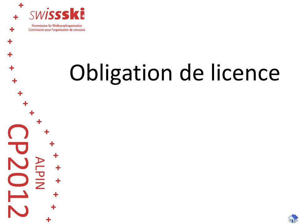 Obligation de licence