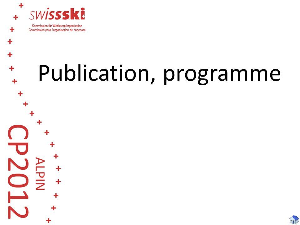 Publication, programme