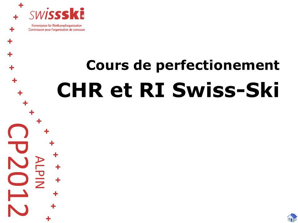 Cours de perfectionement CHR et RI Swiss-Ski
