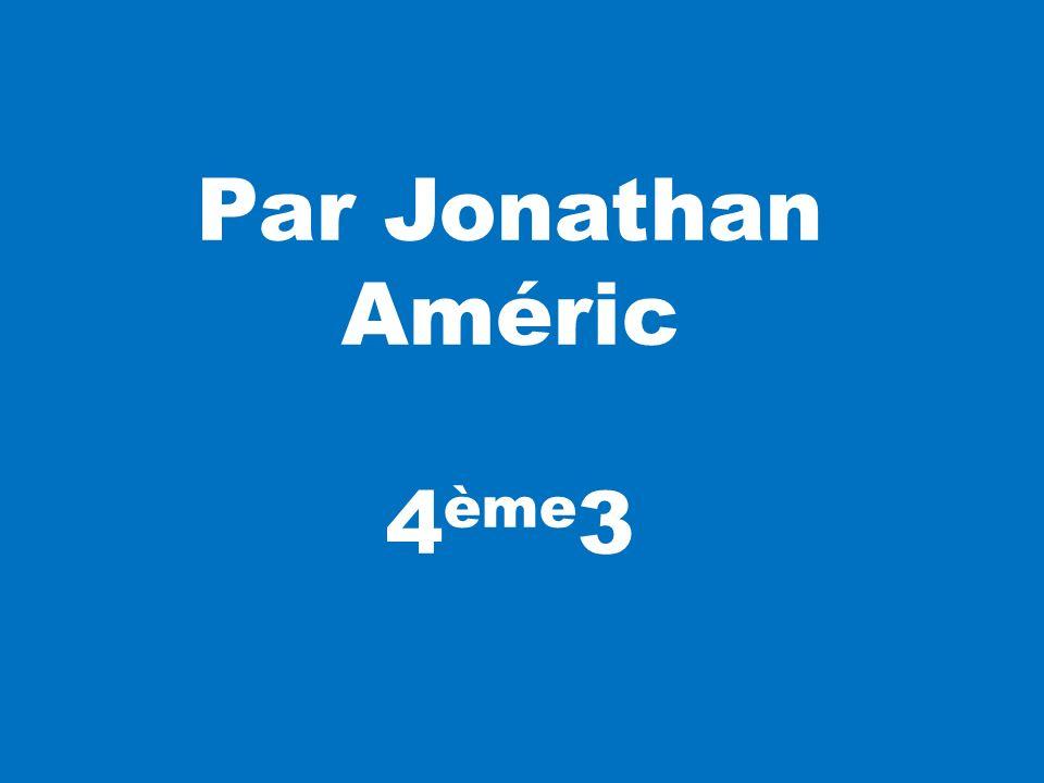 Par Jonathan Améric 4 ème 3