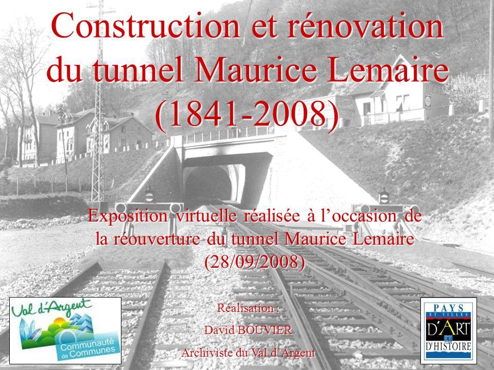 La Percée des Vosges (1933-1937) les travaux à lextérieur du tunnel En mai 1937, le tunnel est achevé coté Sainte-Marie-aux- Mines (ci-contre) et à Lusse (ci-dessous) Fonds Jobert – Archives municipales de Sainte-Marie-aux-Mines, article 3 S 3