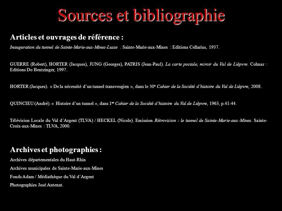 Sources et bibliographie Articles et ouvrages de référence : Inauguration du tunnel de Sainte-Marie-aux-Mines-Lusse. Sainte-Marie-aux-Mines : Editions