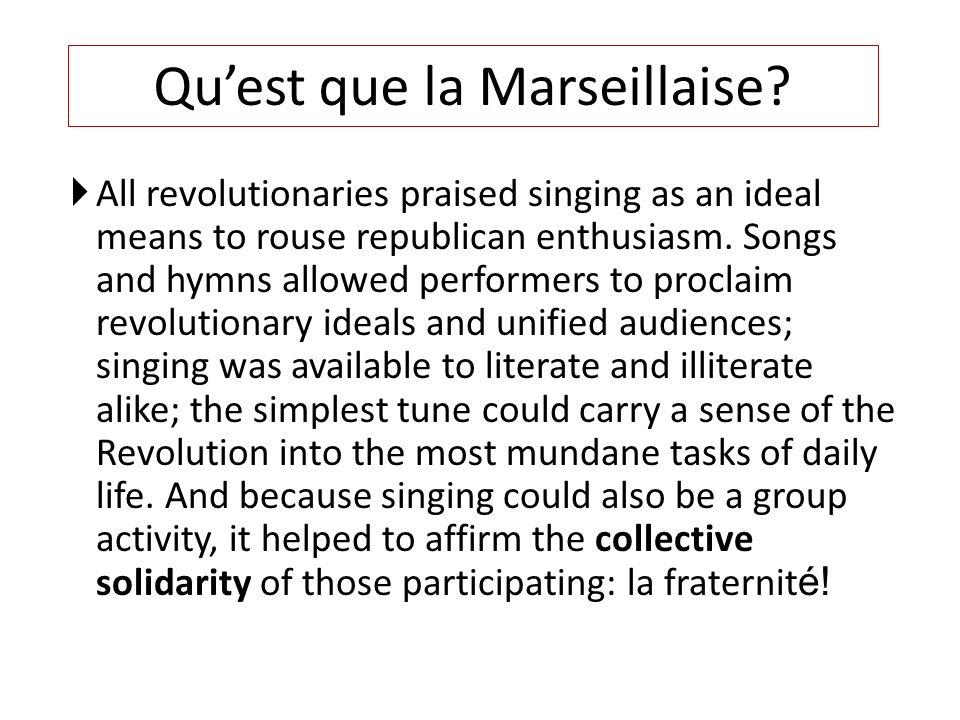 Cest lhymne national français La Marseillaise a été composée par Claude- Joseph Rouget de Lisle en 1792 et a été déclarée « l'hymne nationale français