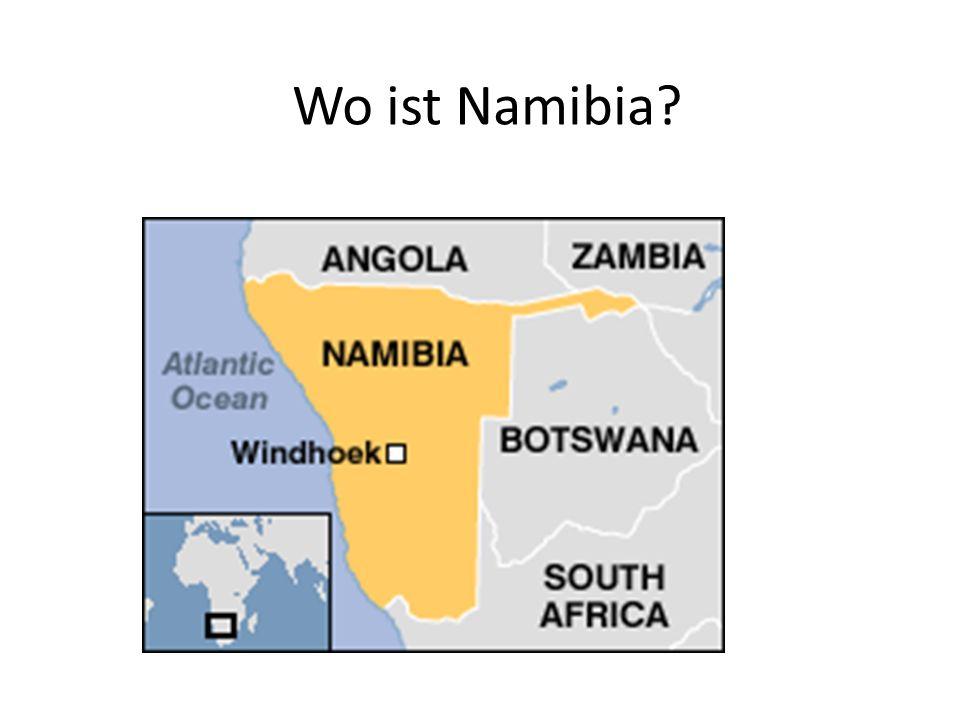 Hallo aus Namibia.Hallo. Ich heiße Mandume. Das ist meine Familie.