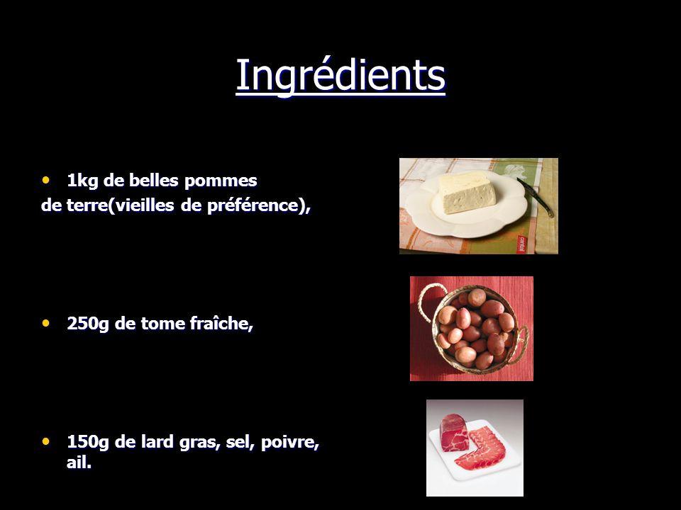 La truffade Auvergnate C est, avec l aligot et la patranque, une spécialité typiquement auvergnate que l on prépare avec du cantal et des pommes de terre (ou du pain).