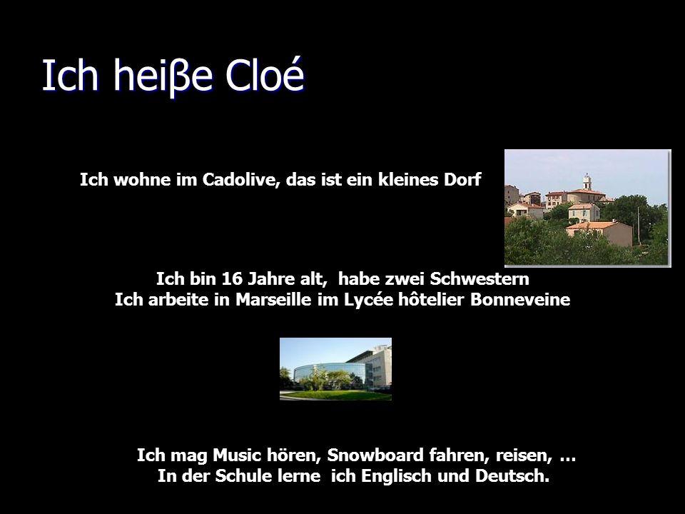 Salut, moi cest Cloé, jai 16 ans, je suis actuellement en première au lycée hôtelier à Marseille ( 11.