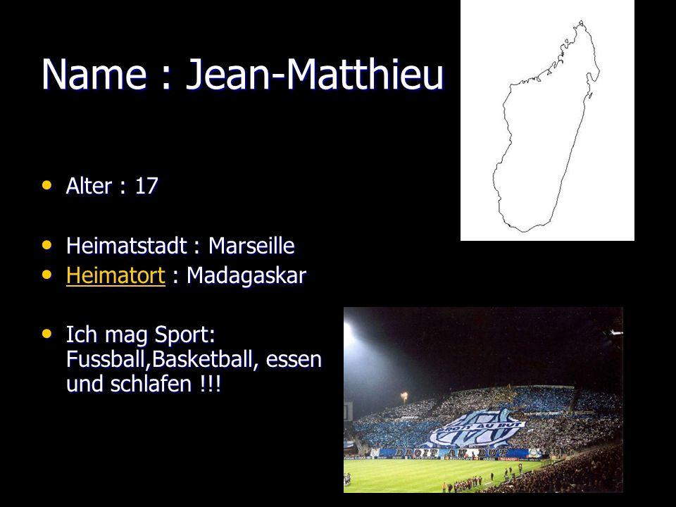 Jean-Matthieu Je mappelle Jean-Matthieu, jai 17 ans ( né le 22/05/89.