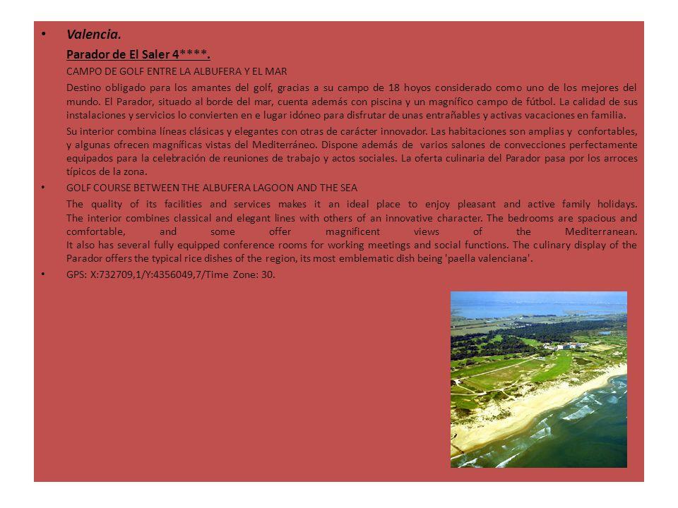 Valencia. Parador de El Saler 4****. CAMPO DE GOLF ENTRE LA ALBUFERA Y EL MAR Destino obligado para los amantes del golf, gracias a su campo de 18 hoy