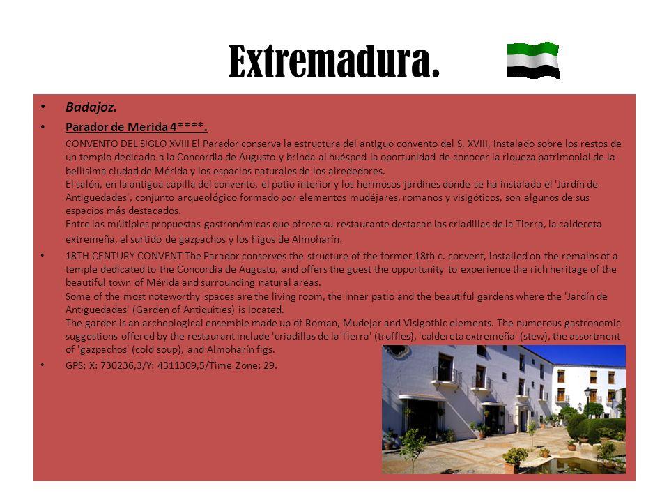 Extremadura. Badajoz. Parador de Merida 4****. CONVENTO DEL SIGLO XVIII El Parador conserva la estructura del antiguo convento del S. XVIII, instalado