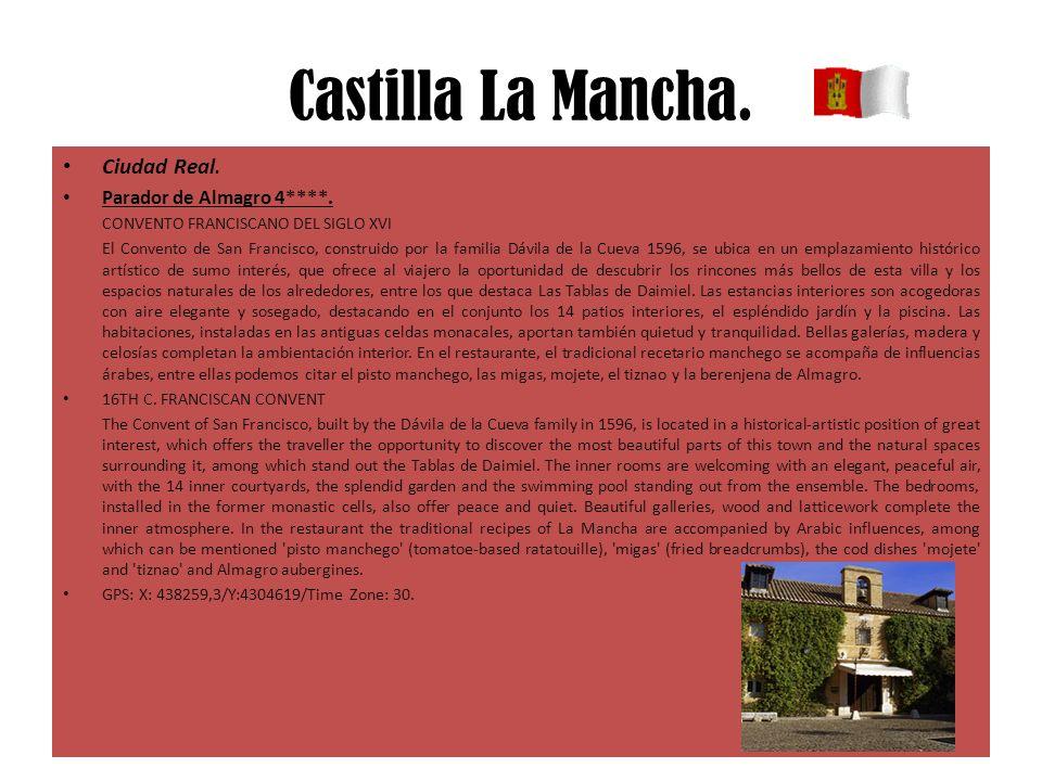 Castilla La Mancha. Ciudad Real. Parador de Almagro 4****. CONVENTO FRANCISCANO DEL SIGLO XVI El Convento de San Francisco, construido por la familia