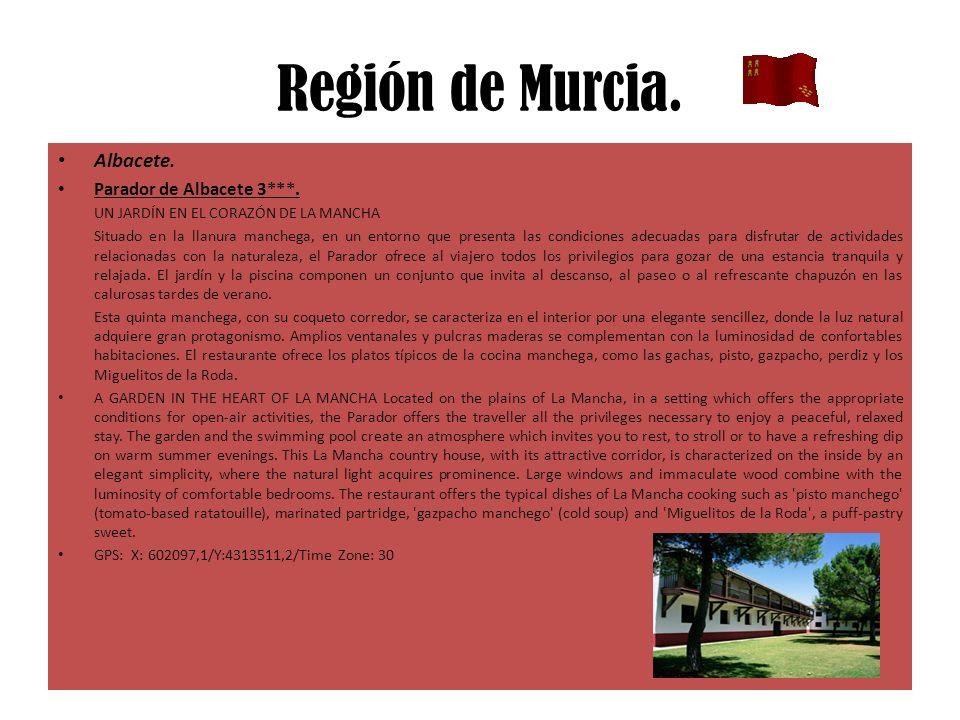 Región de Murcia. Albacete. Parador de Albacete 3***. UN JARDÍN EN EL CORAZÓN DE LA MANCHA Situado en la llanura manchega, en un entorno que presenta