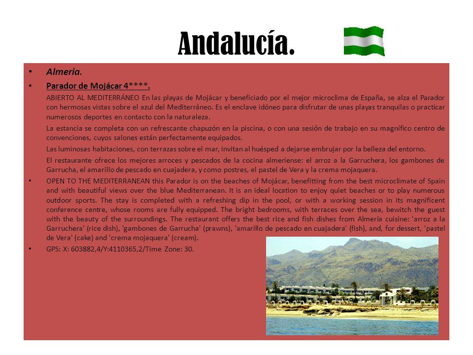 Andalucía. Almeria. Parador de Mojácar 4****. ABIERTO AL MEDITERRÁNEO En las playas de Mojácar y beneficiado por el mejor microclima de España, se alz