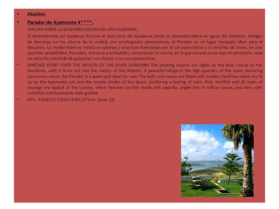 Huelva. Parador de Ayamonte 4****. ATALAYA SOBRE LA DESEMBOCADURA DEL RÍO GUADIANA. El deslumbrante sol onubense ilumina el azul curso del Guadiana, h
