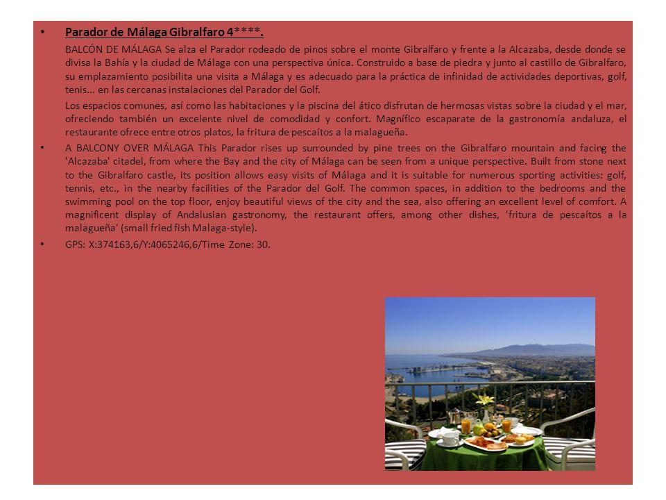 Parador de Málaga Gibralfaro 4****. BALCÓN DE MÁLAGA Se alza el Parador rodeado de pinos sobre el monte Gibralfaro y frente a la Alcazaba, desde donde