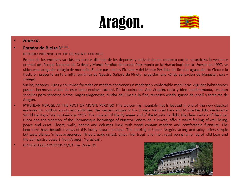 Aragon.Huesca. Parador de Bielsa 3***.
