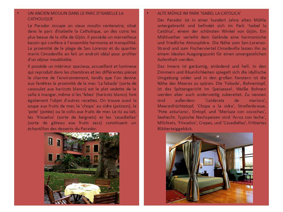 UN ANCIEN MOULIN DANS LE PARC D'ISABELLE LA CATHOLIQUE Le Parador occupe un vieux moulin centenaire, situé dans le parc d'Isabelle la Catholique, un d