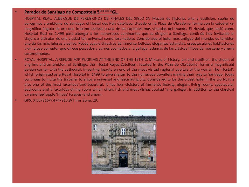 Parador de Santiago de Compostela 5*****GL. HOSPITAL REAL, ALBERGUE DE PEREGRINOS DE FINALES DEL SIGLO XV Mezcla de historia, arte y tradición, sueño