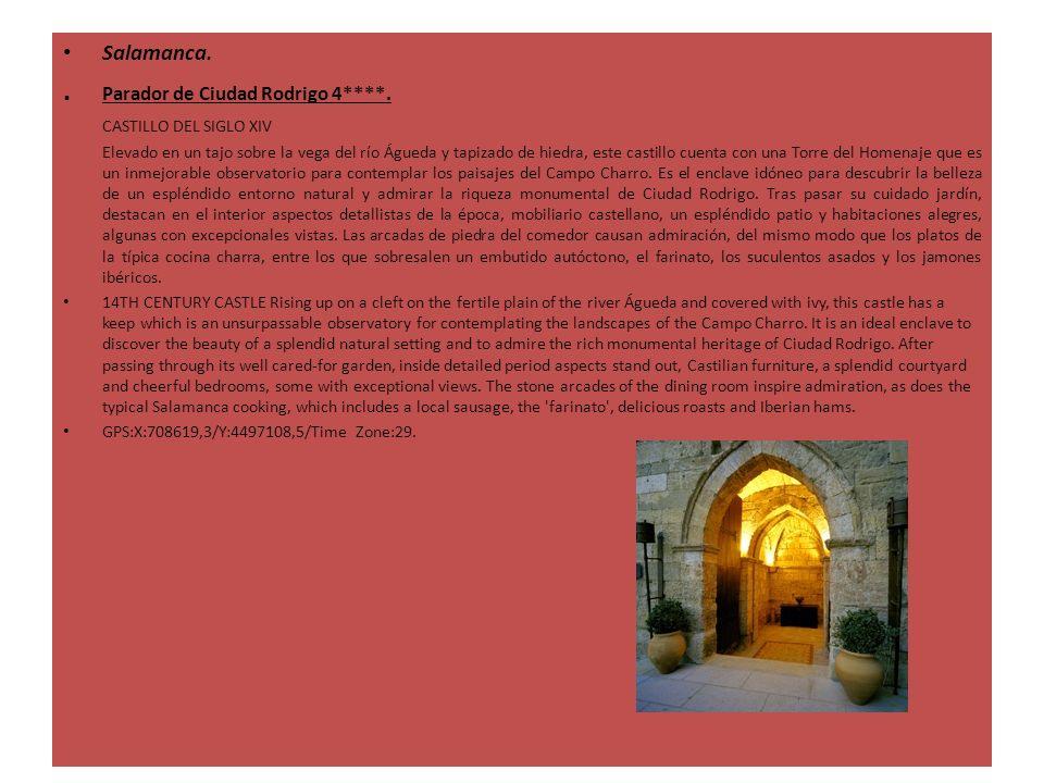 Salamanca.. Parador de Ciudad Rodrigo 4****. CASTILLO DEL SIGLO XIV Elevado en un tajo sobre la vega del río Águeda y tapizado de hiedra, este castill