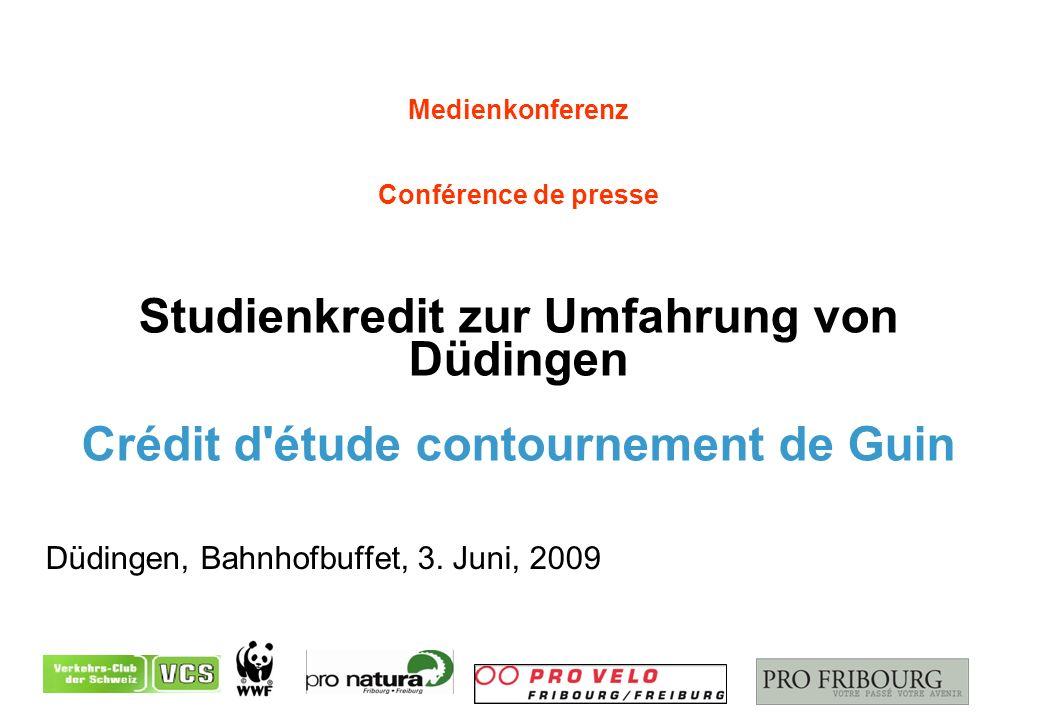 Medienkonferenz Conférence de presse Studienkredit zur Umfahrung von Düdingen Crédit d étude contournement de Guin Düdingen, Bahnhofbuffet, 3.