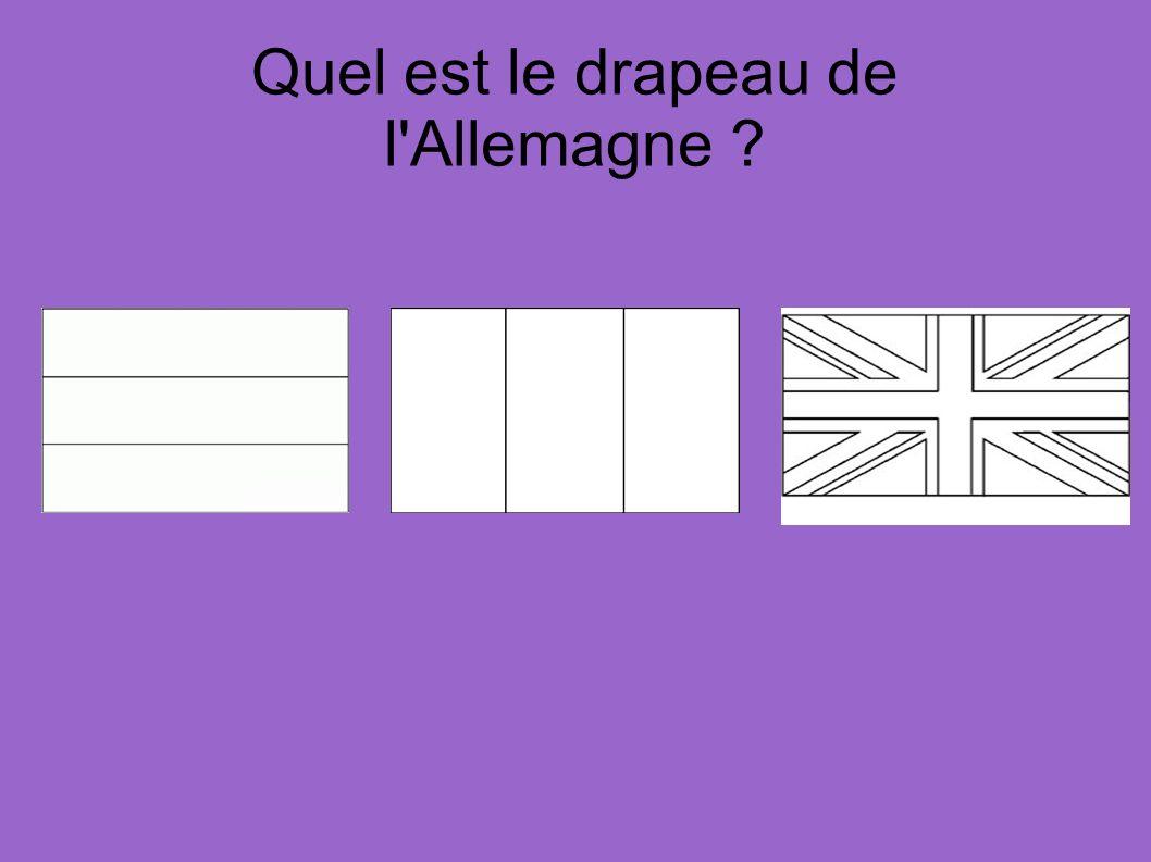 Quel est le drapeau de l'Allemagne ?