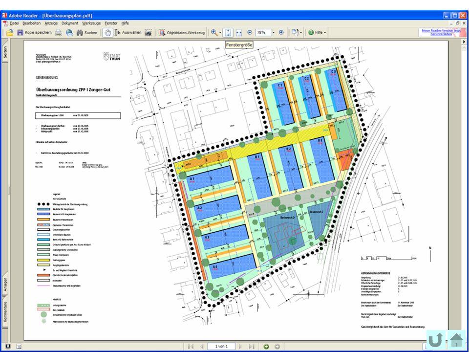 40 Office fédéral de topographie swisstopo Assemblée Générale FGF, Prague 2009 Überbauungsplan