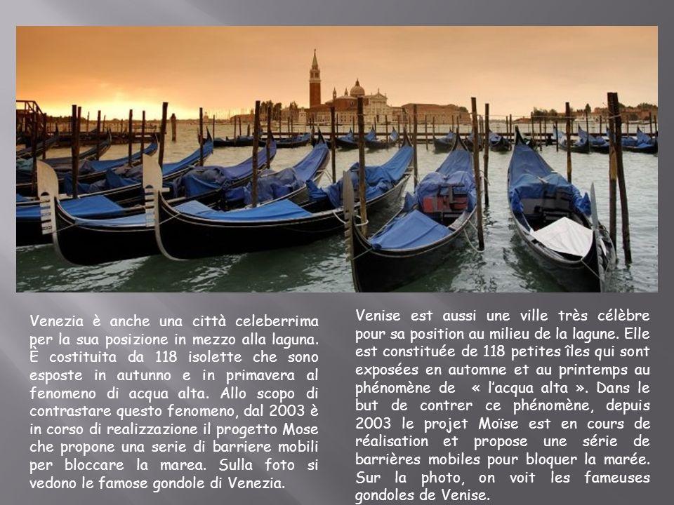 Venezia è anche una città celeberrima per la sua posizione in mezzo alla laguna. È costituita da 118 isolette che sono esposte in autunno e in primave