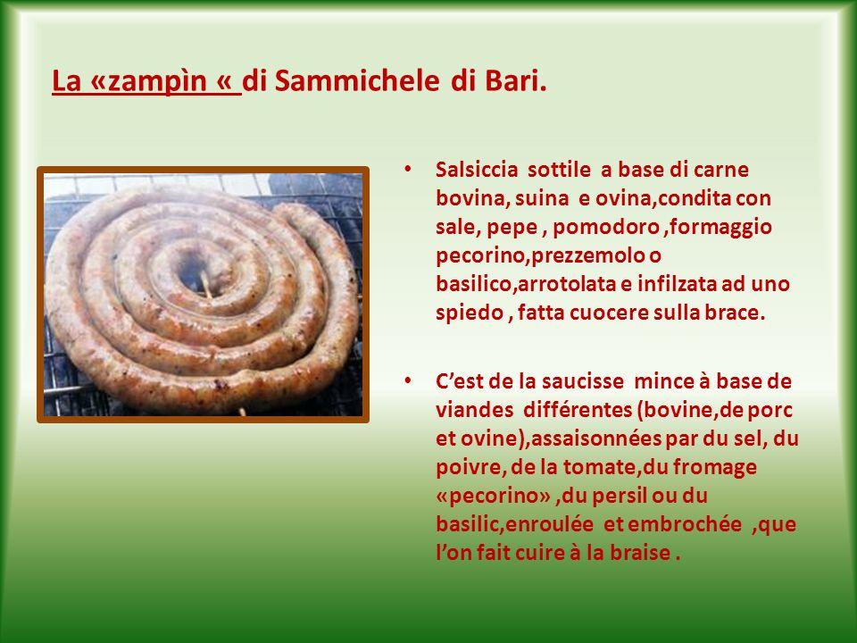 « U bredètt « ( brodetto di agnello con piselli) Si tratta di un classico piatto pasquale, a base di agnello,uova, piselli, formaggio pecorino cipolla, prezzemolo,molto apprezzato nella tradizione della città vecchia di Bari.