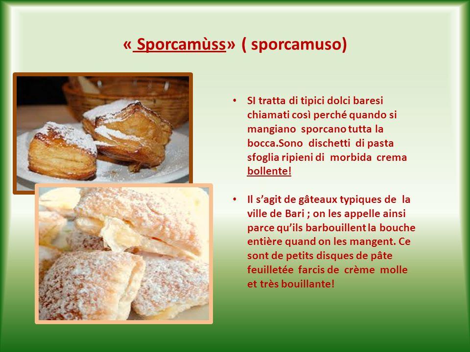 «Pèttue» ( pettole ) Sono delle palline di pasta dolce lievitata che si fanno friggere nellolio doliva e che poi si cospargono di zucchero a velo.