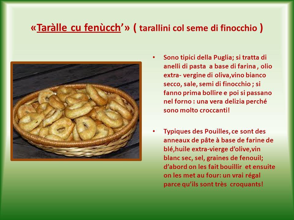 «Popìzze» ( frittelle salate ) Si tratta di palline a base di pasta salata lievitata che si friggono nellolio di oliva e che si mangiano bollenti: una vera delizia .
