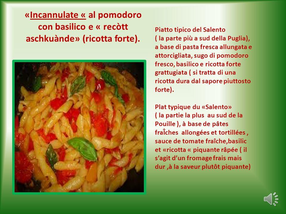 «Paranzèdd» È la frittura mista di pesce di piccole dimensioni: naselli,triglie,ghiozzi,sogliolette,alici.