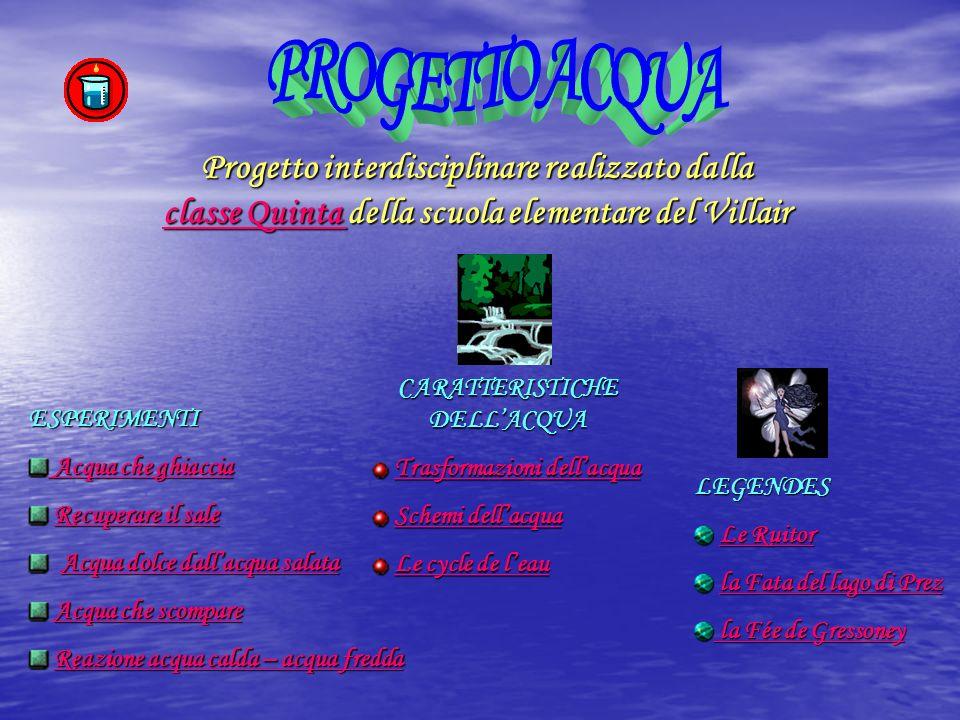 Progetto interdisciplinare realizzato dalla cccc llll aaaa ssss ssss eeee Q Q Q Q uuuu iiii nnnn tttt aaaa d d d d della scuola elementare del Villair
