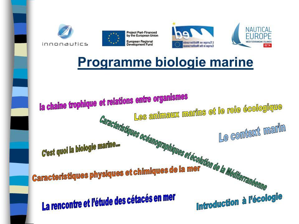 Programme biologie marine