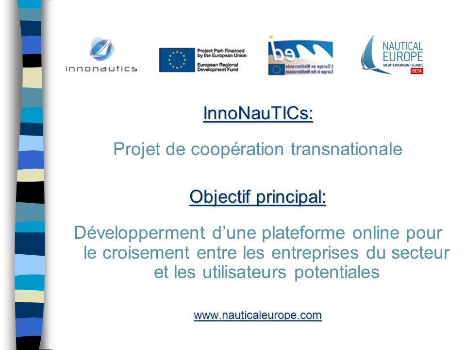InnoNauTICs: Projet de coopération transnationale Objectif principal: Développerment dune plateforme online pour le croisement entre les entreprises d