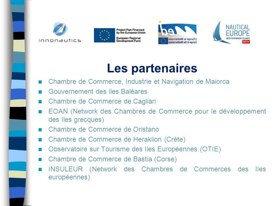 Les partenaires Chambre de Commerce, Industrie et Navigation de Maiorca Gouvernement des iles Baléares Chambre de Commerce de Cagliari EOAN (Network d