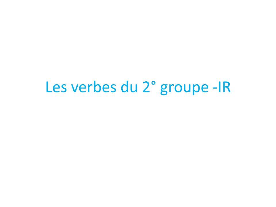 Les verbes du 2° groupe -IR