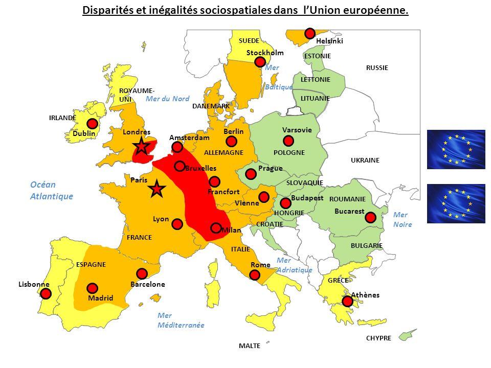 Disparités et inégalités sociospatiales dans l'Union européenne.