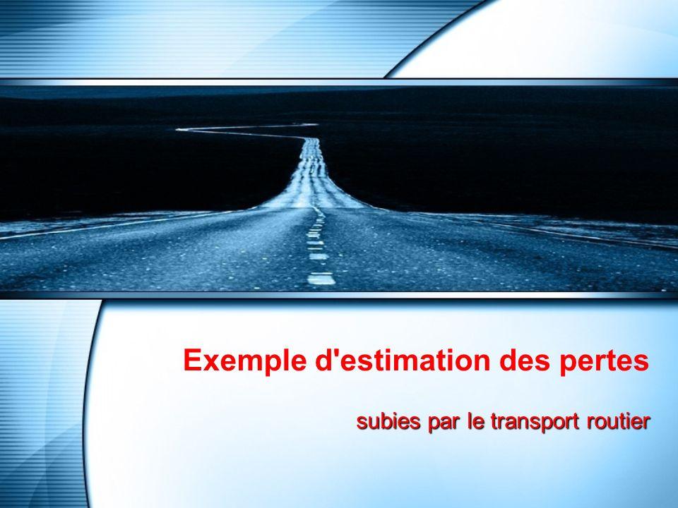 Exemple d estimation des pertes subies par le transport routier