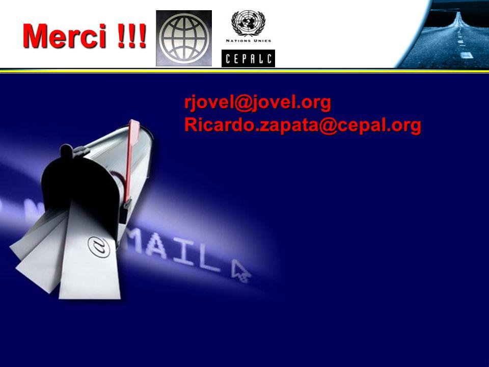 24 août 2007RJovel28 Merci !!! rjovel@jovel.orgRicardo.zapata@cepal.org